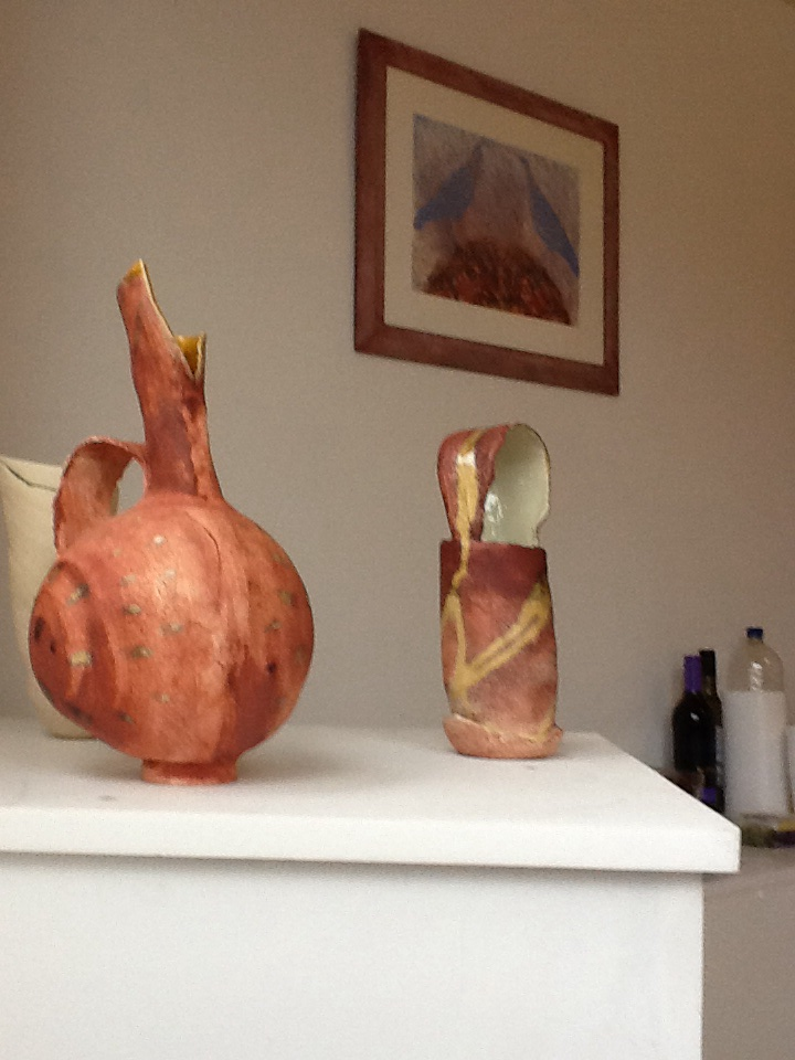 Ceramics by Ruty Benjamini  and  painting by Christine Moores