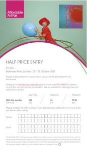 HALF PRICE TICKET - Print off and take with you to the fair