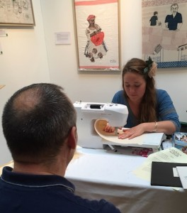 Portrait in stitch by Harriet Riddell