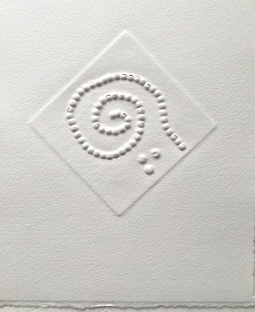 New white works unique embossing on cotton paper
