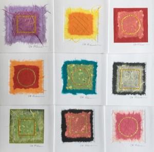 Original cards for Grand Designs. Each one signed