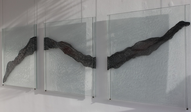 """Diaphanous Flow"" large modular wall piece by Eryka Isaak"