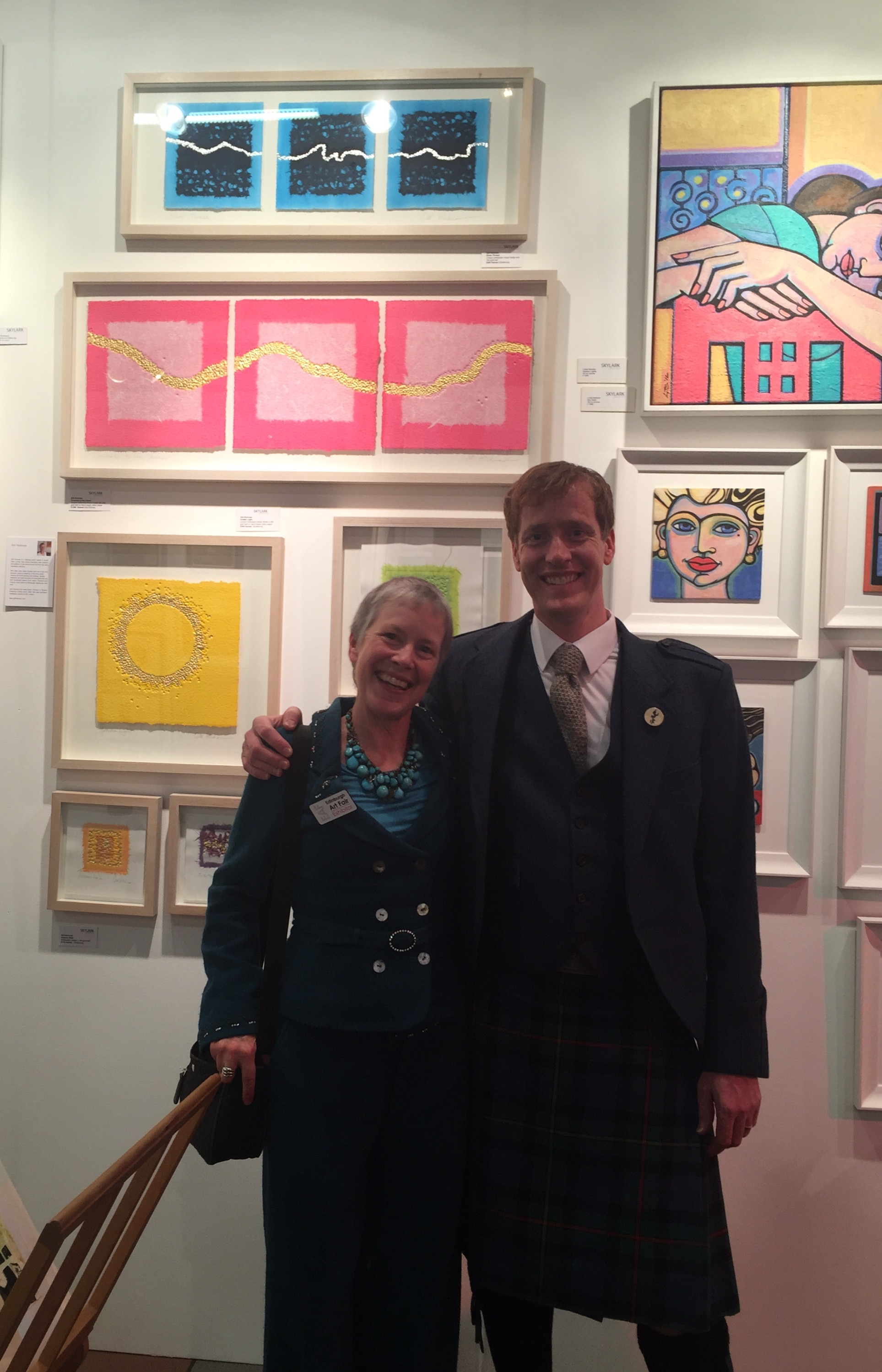 Me and Mike Smith (note the kilt!) at Edinburgh Art Fair
