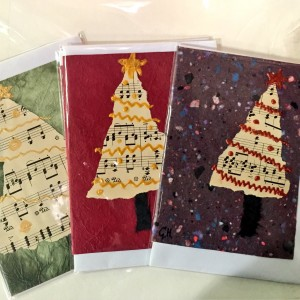 Hand-made Christmas cards made with love by Brockley artist Gill Hickman
